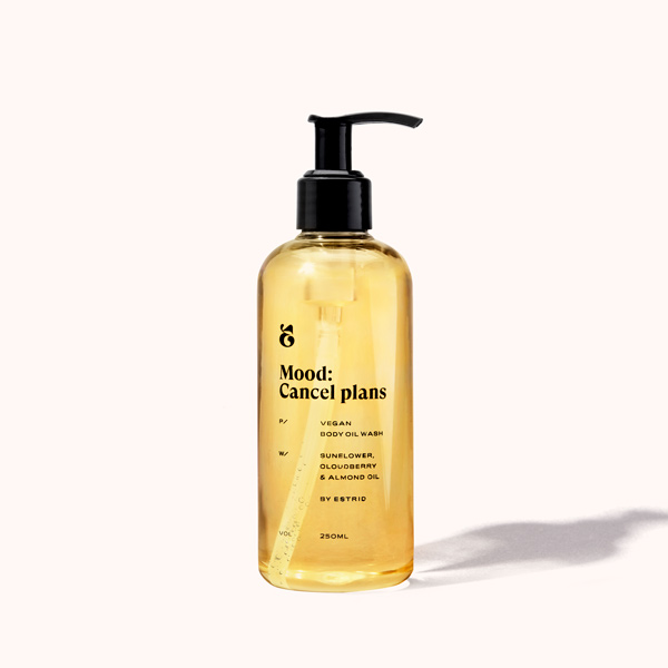 Estrid vegansk body oil wash Mood: cancel plans